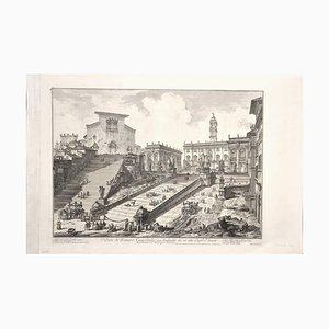 View of the Capitoline Hill - Radierung von GB Piranesi - 1775 1775