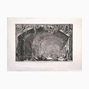 View of the Cave known as Bergantino - Etching by G. B. Piranesi - 1762 1762