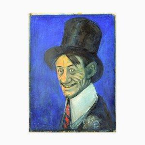 Porträt von Ettore Petrolini - Mixed Media Zeichnung von G. Galantara Frühem 20. Jahrhundert