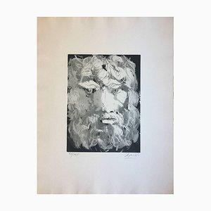 Head of Oedipus - Original Radierung von Giacomo Manzù - 1970 1970