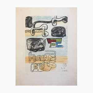 Untitled - Original Etching by Le Corbusier - 1953 1953