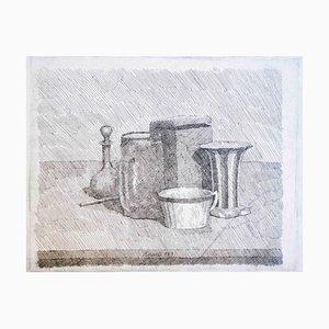 Stillleben mit Kaffeetasse und Karaffe 1929