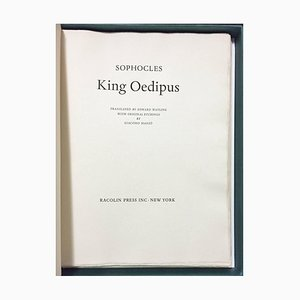 King Oedipus illustrated by Manzù - Includes a Suite of Original Etchings. 1968