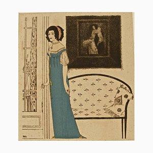 Illustration for ''Les Robes de Paul Poiret racontées par Paul Iribe'' 1908