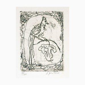 Untitled - Original Rare Etching by Lucio Fontana - 1965 1965