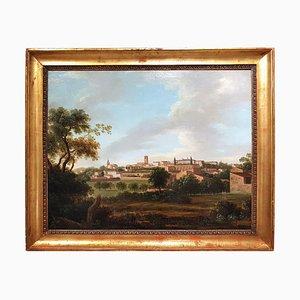 Paar Landschaften aus der toskanischen Landschaft - Ölgemälde - 19. Jahrhundert