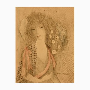 Dans les Rigieres - Original Mixed Media by Marie Laurencin - 1958 1958
