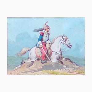 Cavallari - Acquarello originale di Theodore Fort - 1844 1844