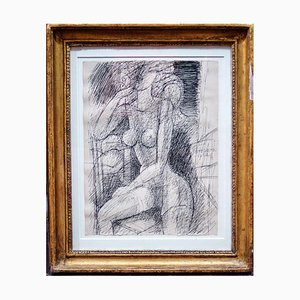 Female Figure - Original China Ink by Marcel Gromaire - 1962 1962