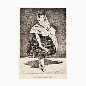 Lola de Valence - Original Etching by Edouard Manet - 1862 1862