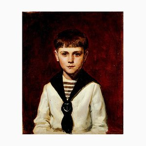 Portrait of Willy - Original Öl auf Leinwand von Carolus-Duran - 1870 ca. 1870 ca.