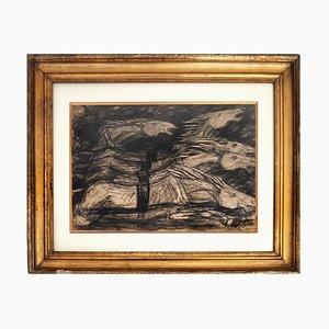 Galoppierende Pferde - Original Kohle auf Papier von Giuseppe Cominetti - 1916 1916