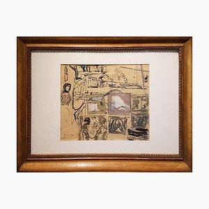 Composición - Original Mixed Media de Mario Sironi - 1937 1937