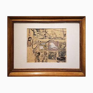 Composition - Original Mixed Media von Mario Sironi - 1937 1937