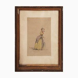Original Drawing from Scènes de la vie privée et publique des animaux 1845