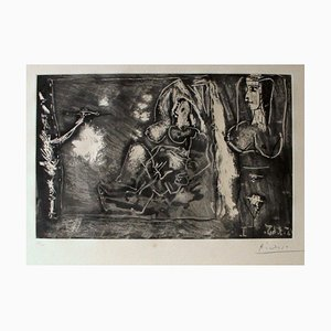 Dans l'Atelier - 1960 - Pablo Picasso - Etching - Modern 1965