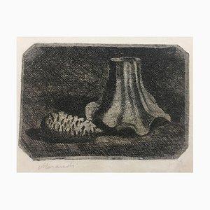 Natura morta con pigna e frammento di vaso - Giorgio Morandi - Etching - Modern 1922