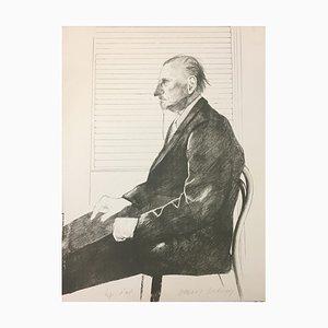 The Print Collector(Portrait of Felix Mann) - 1960s - David Hockney - Lithograph 1969