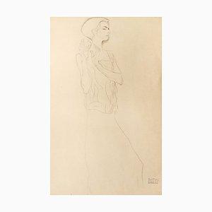 Skizze für eine Frieze - Original Collotypie Druck - 1919 1919