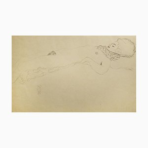 Female Nude Lying with Scarf - 1910s 1919