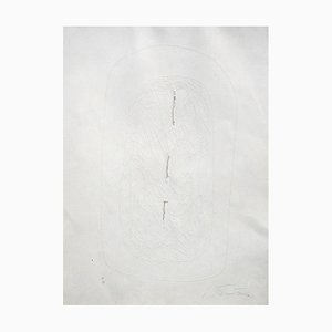 White Incision - 1960s - Lucio Fontana - Etching - Contemporary 1967