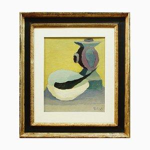 Natura Morta (Naturaleza muerta) - años 40 - Toti Scialoja - Pintura al óleo - Contemporánea 1949