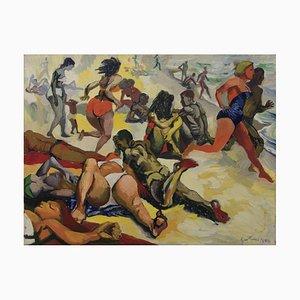 The Beach - 1955 - Renato Guttuso - Öl auf Leinwand - Contemporary Art 1955