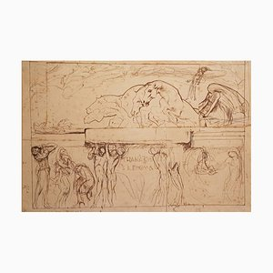 "Sketch for the Parliament Hall ""Thanatos and the Enigma"" - 1900s - Drawing 1908"