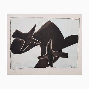 The Black Birds - Original Lithografie Nach Georges Braque - 1958 1958