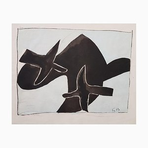 The Black Birds - Original Lithograph After Georges Braque - 1958 1958