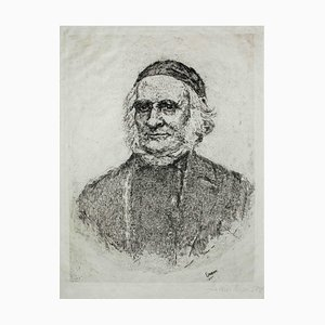 Frise, the Swedish botanist - Original Etching y James Ensor - 1886 1886
