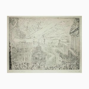 Gefangennahme einer fremden Stadt - Original Radierung von James Ensor - 1888 1888