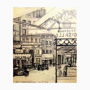 Rue Montmartre - 1930s - Hans Bellmer - Drawing - Surrealism 1934