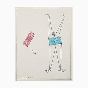 Un Acteur de Talent - Original Frottage von Max Ernst - 1972 1972