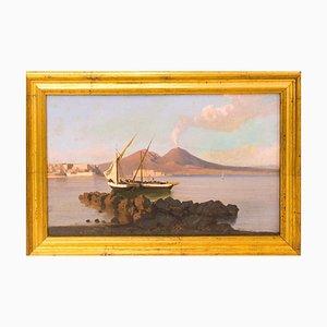 View of Naples with The Vesuvius