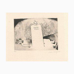 Gravure à l'Eau-Forte La Tombe du Père par Marc Chagall - 1923 1923