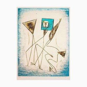 Komposition von '' Festin '' - Original Lithographie von Max Ernst - 1974 1974