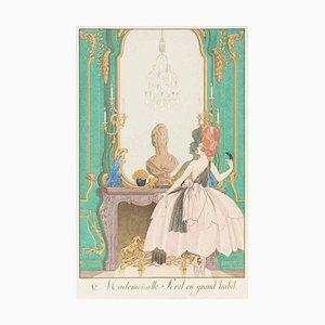 Mademoiselle Sorel en grow ast - Original Pochoir von Georges Barbier - 1920 1920
