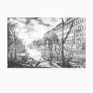 Veduta del Porto di Ripa Grande - Original Etching by G. B. Piranesi