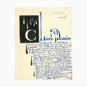 Letter from Louis Marcoussis to Countess Pecci Blunt