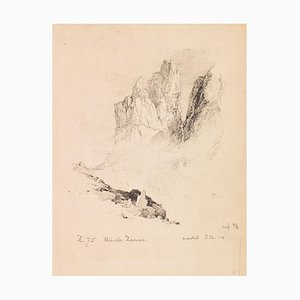 Kleinste Zinne - Original China Ink Drawing on Paper by E.T. Compton - 1880 ca. 1880 ca.