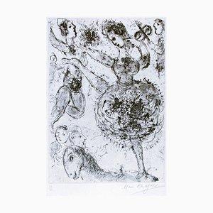 La Grande Danseuse - Original Etching by Marc Chagall - 1967 1967