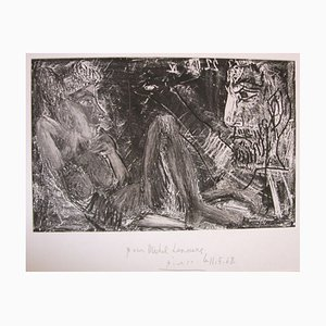 Gravure à l'Eau-Forte Vintage par Pablo Picasso pour Homme et Femme - 1968 1968