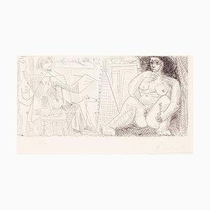 Gravure à l'Eau-Forte Le Poincaré et Son Modèle par Pablo Picasso - 1963 1963