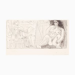 Le Peintre et son Modèle - Original Radierung von Pablo Picasso - 1963 1963