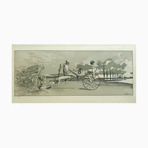 Amor, Tod und Jenseits - Original Radierung von M. Klinger - 1881 1881