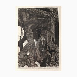 Le Pendu (The Hanged Man) - Original Etching by Félicien Rops - 1868 1868