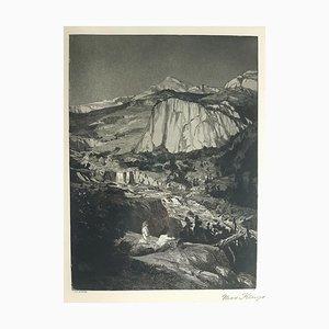 Mondnacht - Original Etching by M. Klinger - 1881 1881