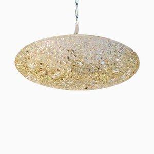 Lámpara de techo de vidrio texturizado de J.T. Kalmar