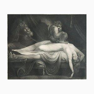 Acquaforte The Nightmare - Original Incisione di Laurède After JH Fussli - 1782 1782